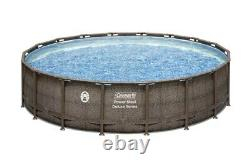 Coleman 18ft x 48in Power Steel Deluxe Above Ground Swimming Pool NO SHIP