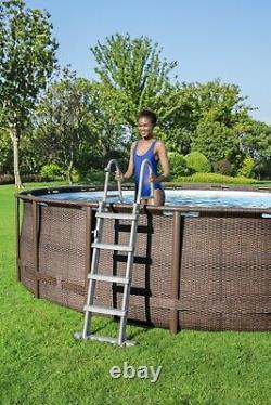 Coleman 18ft x 48in Power Steel Deluxe Above Ground Swimming Pool Ships Fast