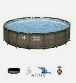 Coleman 18ft x48in Power Steel Deluxe Series Above Ground Swimming Pool