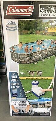 Coleman 26 x 12 x 52 Power Steel Oval Above Ground Swimming Pool LOCAL P/U