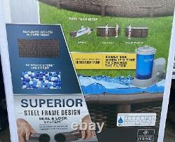 Coleman Power Steel Frame 18 x 48 Round Above Ground Swimming Pool Set NEW