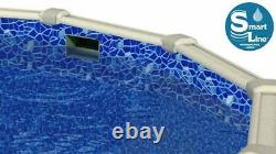 Cracked Glass Overlap Swimming Pool Liner with Gasket Kit (Choose Size & Gauge)