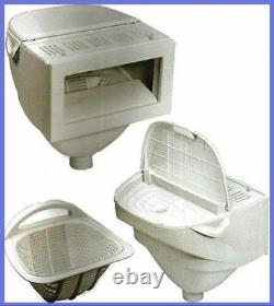 DELUXE Widemouth Skimmer Box, Above Ground Swimming Pool, Free Ship OCEAN BLUE