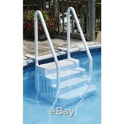 Easy Pool Step for Above Ground Pools With 2x3 Liner Protective Pad- NE113
