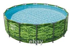 FAST SHIPBestway Steel Pro MAX 14' x 48 Above Ground Pool Set With Filter