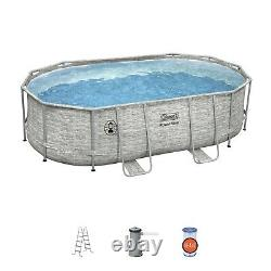 FREE SHIP NEW Coleman Power Steel 16 x 10 x 48 Oval Pool Set with Pump & Ladder