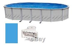 Galleria Above Ground Oval Swimming Pool with Liner & Skimmer Kit (Choose Size)