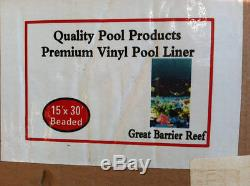 Great Barrier Reef Above Ground Pool Liner 15' x 30' Oval Quality Pool Products