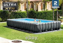 INTEX 32ft X 16ft X 52in Ultra XTR Frame Rectangular Pool Set + Sand Filter Pump