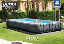 INTEX 32ft x 16ft x 52in Ultra XTR Rectangular Above Ground Swimming Pool Set