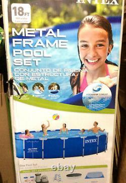 INTEX PRISM 18' foot x 48 BLUE Metal Frame Swimming Pool (PICKUP Liberty, MO.)