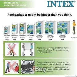 Intex 12 x 30 Steell Frame Above Ground Swimming Pool Filter Pump Meadows Liner