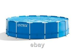 Intex 15ft x 48in Metal Frame Above Ground Pool Set with Filter Pump Ladder