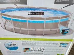 Intex 16ft x 48in ClearView Prism Above Ground Pool with Filter Pump + Ladder
