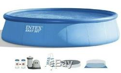 Intex 18 X 48 Easy Set Pool With Ladder, Filter, Pump, Cover, Liner IN HAND