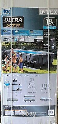 Intex 18' x 9' x 52 Ultra XTR Rectangle Swimming Pool Set Pump Filter New