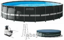 Intex 22ft X 52in Ultra XTR Frame Round Pool Set with Sand Filter Pump + FREE SH