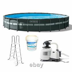 Intex 24' x 52 Ultra XTR Frame Above Ground Pool Set with 3 In Chlorine Tablets