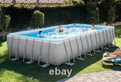 Intex 24ft X 12ft X 52in Ultra XTR Rectangular Pool + Sand Filter, Ladder, Cover