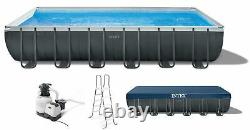 Intex 24ft x 12ft x 52in Ultra XTR Frame Swimming Pool Set with Ladder, free ship