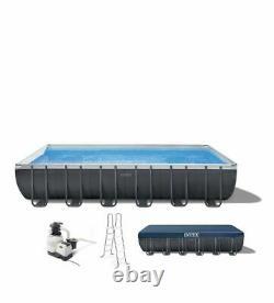 Intex 24ft x 12ft x 52in Ultra XTR Rectangular Swimming Pool Set