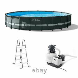 Intex 26333EH 20' x 48 Round Ultra XTR Frame Swimming Pool Set with Filter Pump