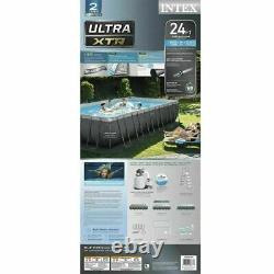 Intex 26367EH 24' x 12' x 52 Rectangular Ultra XTR Frame Swimming Pool with Pump