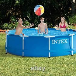 Intex 28201EH 10' x 30 Metal Frame Round Above Ground Swimming Pool with Pump