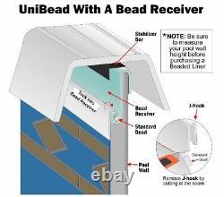 Laguna Unibead Swimming Pool Liner with Cove Kit & Guard Pad-(Choose Size & Gauge)