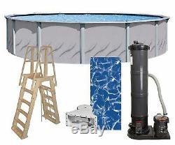 Lake Effect 24 x 52 Round Galleria Swimming Pool Sunlight Liner & Filter Kit