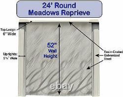 Lake Effect 24' x 52' Round Meadows Swimming Pool Package Kit Choose Liner