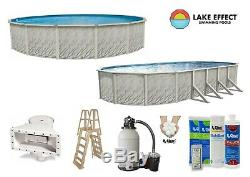 Lake Effect Above Ground MEADOWS Swimming Pool with Liner, Ladder & Sand Filter