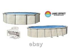 Lake Effect Forever 54 Wall Above Ground Steel Swimming Pool with Liner & Skimmer