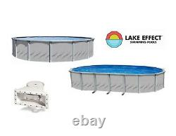 Lake Effect Galleria Above Ground Swimming Pool with Skimmer (Choose Size & Liner)
