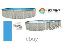 Lake Effect MEADOWS Above Ground Swimming Pool with Plain Blue Liner & Skimmer