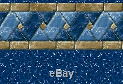 Lakeview Tile Above Ground Swimming Pool Replacement Liner 27 ft Rd 52 in wall