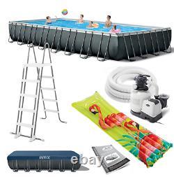 Large SWIMMING POOL Intex 975 x 488 x 132cm Garden Ground Pool +Ladder PUMP GIFT
