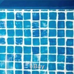 Liner mosaicato per piscina fuori terra ovale 610x375x120h spessore 50/100