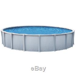 Matrix 24' Round 54 Resin Above Ground Swimming Pool withLiner, Filter & Ladder