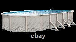 Meadows Reprieve 18' by 33' by 52 Oval Swimming Pool W Liner and Skimmer