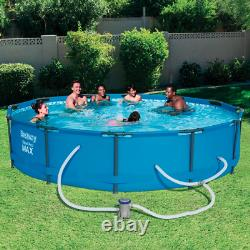 NEW Bestway 12' x 30 Steel Pro MAX Frame Swimming Pool Set with Filter Pump