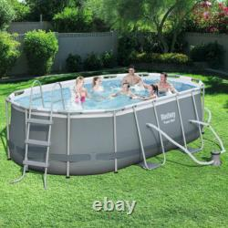 NEW Bestway 14ft x 8x2 x 39.5 Oval Frame Swimming Pool Above Ground not Intex