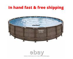 NEW Bestway 20' x 48 Power Steel Deluxe Series Pool Set with Pump, Ladder & Cover