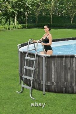 NEW Bestway Power Steel 20 x 12 x 48 Above Ground Oval Pool Set with Pump