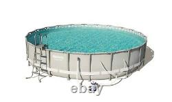 NEW Bestway Power Steel 24' x 52 Frame Swimming Pool Set With Pump & Ladder