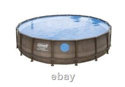 NEW Coleman 18ft x 48in Above Ground Swimming Pool With Pump, Ladder, & Pool Cover