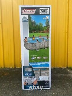NEW Coleman Power Steel 16ft x 10ft x 48 inch Deluxe Pool with Filter & Ladder