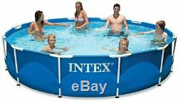 NEW Intex 12' x 30 METAL Frame Above Ground Swimming Pool with Filter/ NO LINER