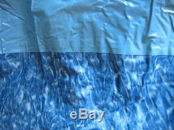 NEW OVAL 15'x26' BLUE SHIMMER ABOVE GROUND REPLACEMENT VINYL SWIMMING POOL LINER