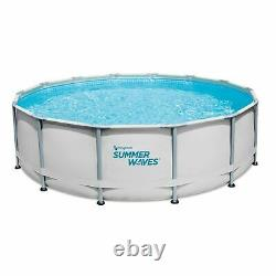 NEW! Summer Waves 14ft x 42 Elite Frame Pool With Filter, Pump, Cover, & Ladder